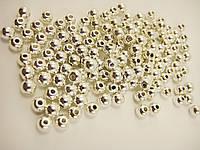 Бусины серебряные с отверстием 5 мм