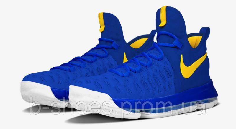 Мужские баскетбольные кроссовки Nike KD 9  (Warriors Color Blue)