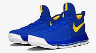 Мужские баскетбольные кроссовки Nike KD 9  (Warriors Color Blue), фото 1