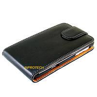 Чехол-флип Chic Case для HTC M7, 801e One Black