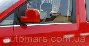 Окантовка стёкол Volkswagen Caddy 2010+ (4 шт.)