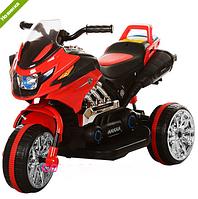 Электромобиль мотоцикл детский трехколесный Bambi BI318C-3, красный