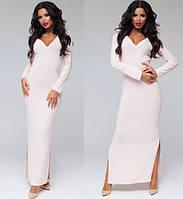 Женское длинное ангоровое платье с мысиком в расцветках А1254