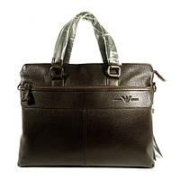 Сумка мужская для документов, портфель, папка Giorgio Armani 6618-3 коричневый, 38*29*8 см