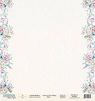 Лист двусторонней бумаги Mona Design, Chic wedding - Dots, 30,5x30,5 см, 1 лист