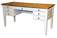 Письменный компьютерный стол из массива дерева 086