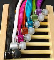 Проводная гарнитура Laces веревки наушники с микрофоном к телефону мп3 ноутбуку фиолетовый