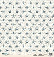 Лист односторонней бумаги Mona Design, Звездный дракон - Молочные звёздочки, 30,5x30,5 см, 1 лист