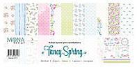 Набор бумаги Mona Design - Fancy Spring, 30,5x30,5 см, 12 листов