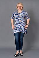 Модная женская туника увеличенных размеров, размер 54