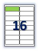 Бумага самоклеющаяся формата А4. Этикеток на листе А4: 16 шт. Размер: 99,1х34 мм. От 115 грн/упаковка*