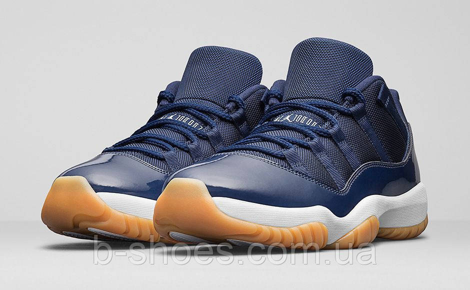 Мужские баскетбольные кроссовки Air Jordan Retro 11 Low (Midnight Navy)