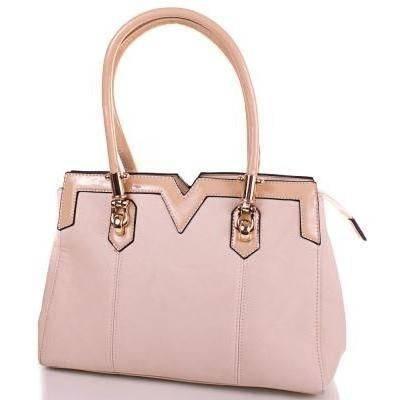 Классическая женская сумка из качественного кожезаменителя ANNA&LI (АННА И ЛИ) TUP14109-12 (бежевый)