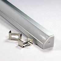Профиль алюминиевый угловой для светодиодной LED ленты ПФ-17 1 метр