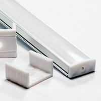 Профиль алюминиевый накладной для светодиодной LED ленты ПФ-15 1 метр