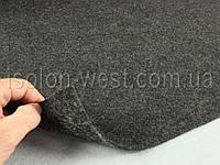 Авто ковролин тягучий Графит (черно-серый) шир.1,5м, плотность 500 гр/м2, фото 1