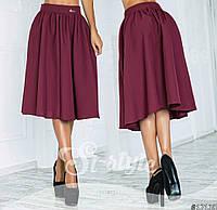 Стильная юбка со складками в расцветках