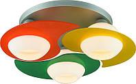 Люстра потолочная Altalusse INL-9291C-03 Silver & Green, Yellow, Orange