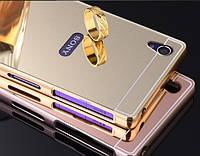 Чехол бампер для Sony Xperia Z5 Premium Dual E6883 зеркальный, фото 1