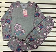 Теплая пижама для девочки баечка  рост 128-134 Фламинго, фото 1