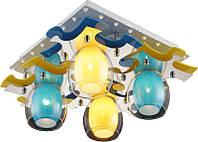 Люстра потолочная Altalusse INL-9319C-04 White & Yellow, Blue