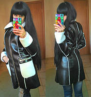 Куртка Дублёнка зимняя цвет чёрный