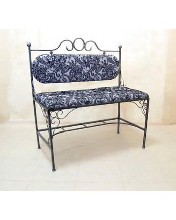 Кованый диван с мягкой спинкой и сидушкой ДС3, фото 2