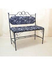 Кованый диван с мягкой спинкой и сидушкой ДС3