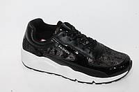 Спортивная модная обувь. Кроссовки для подростков от фирмы Wonder 9-112 Black (8пар, 36-41)