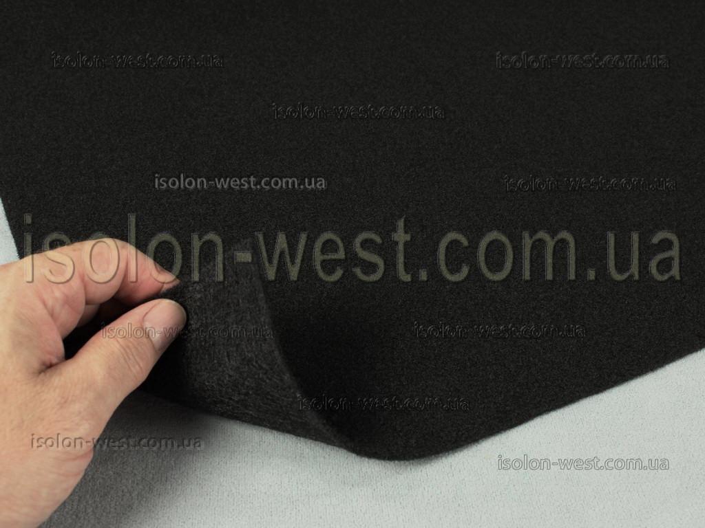 Карпет автомобильный Черный, толщина 2.2 мм, шир. 1.43 м, плотность 300 г/м2