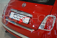 Накладка на задний бампер Fiat 500