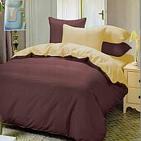 Евро комплект постельного белья beige-marsala