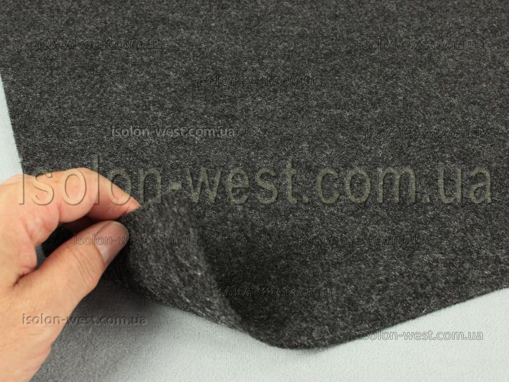 """Карпет автомобильный Графит (темно-серый), толщиной 2.2 мм, шир. 1.4 м, плотность300 г/м2 - Торгово-производственная компания """"Изолон-Вест"""". в Львовской области"""