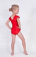 Детское трико купальник без рукава красное