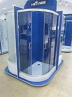 Душевая кабина SANTEH 1015G(115*85*195) правая поддон 15см хром/графит