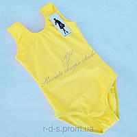 Детское трико купальник  без рукава желтое