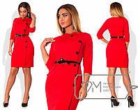 """Красивое женское платье с поясом """"NINA""""  до 54 размера"""