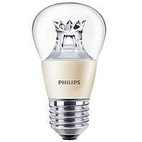 Лампа светодиодная G45 Philips Master LEDluster D E27 6-40W 827 P48 CL Шар 929000272102
