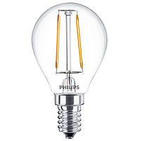 Лампа светодиодная G45 Philips LED Fila ND E14 2.3-25W, 2700K, 230V P45 1CT APR Filament Шар 929001180207