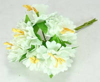 Искусственные цветы для рукоделия тканевые 6шт Ф6см белые ЦВ160-2/6