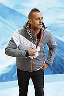 Куртка  Freever мужская  миланж с бел 6104