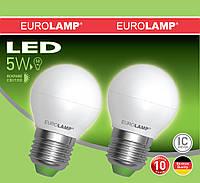 Лампа светодиодная G45 EUROLAMP 5W E27 4000K MLP-LED-G45 05274(E)
