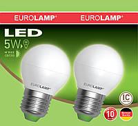 Лампа светодиодная G45 EUROLAMP 5W E27 3000K MLP-LED-G45 05273(E)