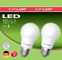 Лампа светодиодная A60 EUROLAMP 10W E27 3000K MLP-LED-A60 10272(E)