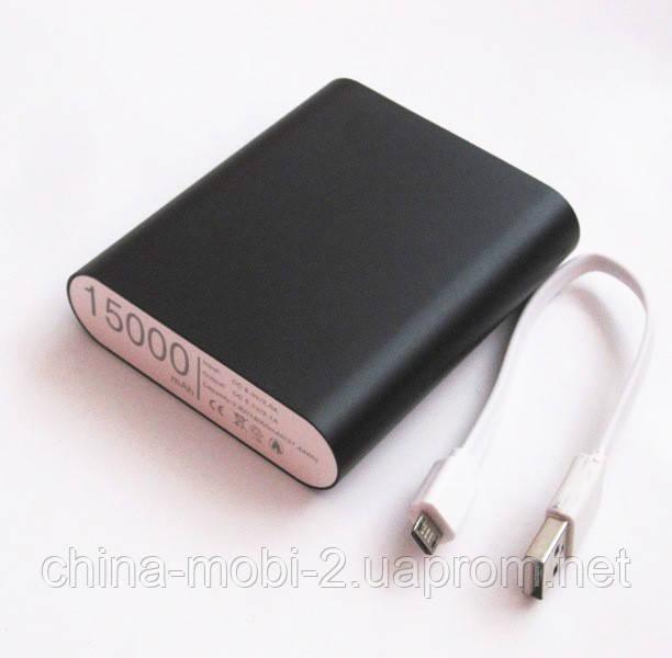 Универсальная мобильная батарея  в стиле mi Xiaomi mobile power bank  15000 mAh, black