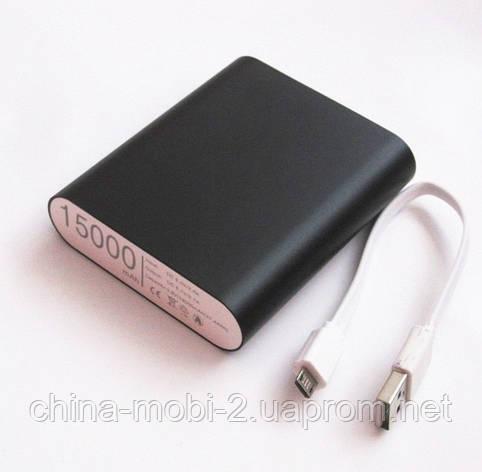 Универсальная мобильная батарея  в стиле mi Xiaomi mobile power bank  15000 mAh, black, фото 2
