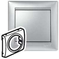 Лицевая панель универсальная Valena 46.5 мм алюминий Legrand 770180