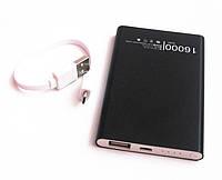 Универсальная мобильная батарея (в стиле mi Xiaomi mobile power bank) 16000 mAh, black, фото 1