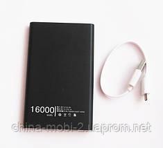 Универсальная мобильная батарея (в стиле mi Xiaomi mobile power bank) 16000 mAh, black, фото 2