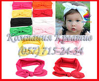 Детские повязки на голову с бантом под заказ (от 50 шт)